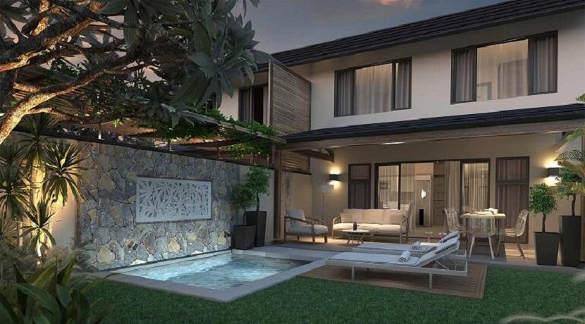 Duplex 2 chambres- Bayview Estate-Ile Maurice-Vue du jardin