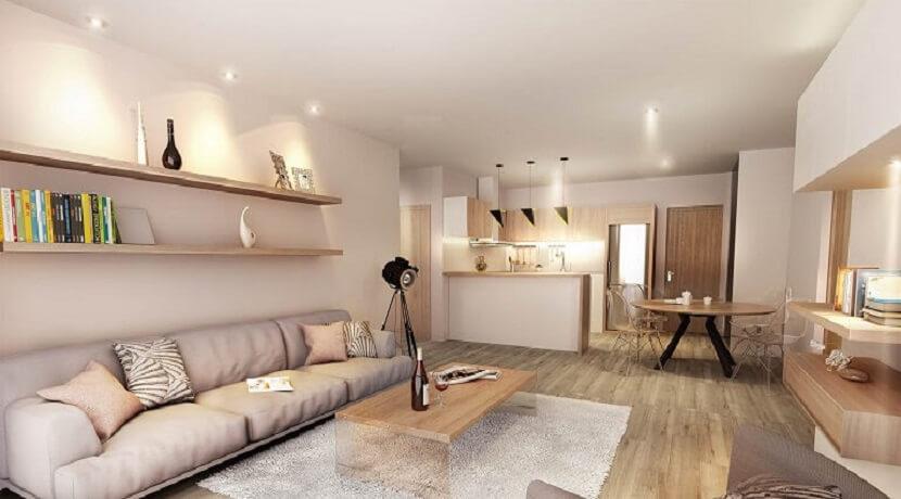 Appartement 2 chambres - Residence La Terrasse - Ile Maurice - Vue du salon