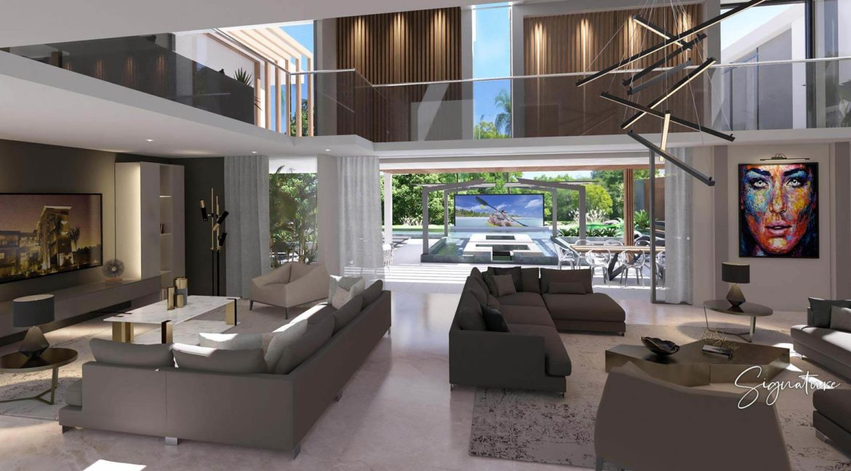 Villa 3 chambres- Aquamarine Villas-Ile Maurice-Vue de l'espace de vie
