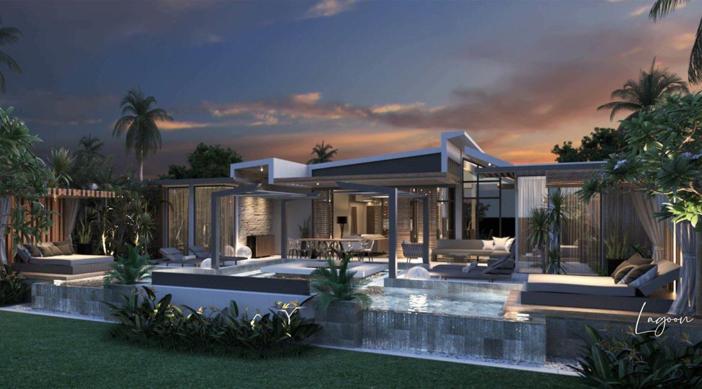 Villa 3 chambres- Aquamarine- Villas-Ile Maurice-Vue de l'exterieure