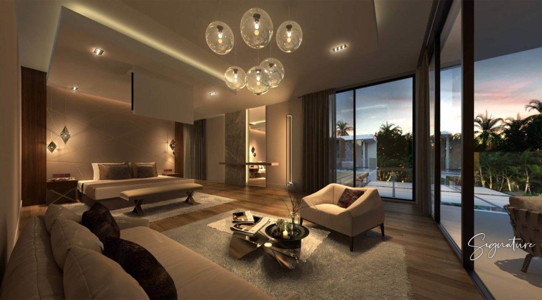 Villa 3 chambres- Aquamarine villas-Ile Maurice-Vue de la chambre