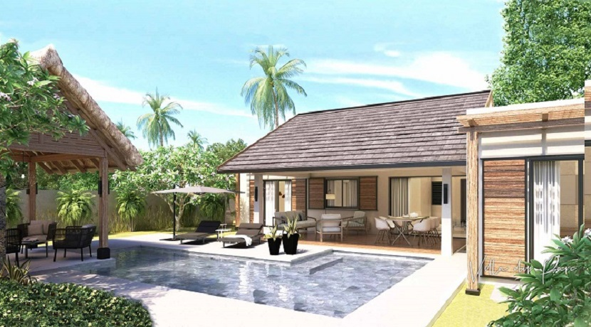 Villa du parc-3 Chambres-Ile Maurice-Vue de la piscine
