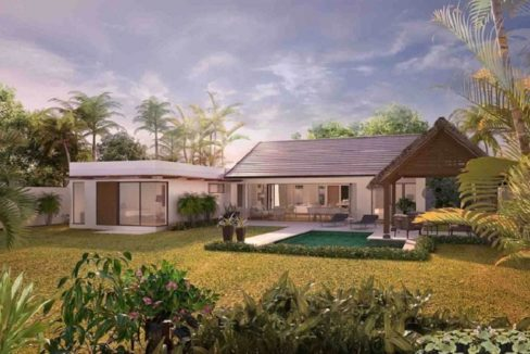 Villa du parc-3 Chambres-Ile Maurice-Vue de la villa-fin de journée