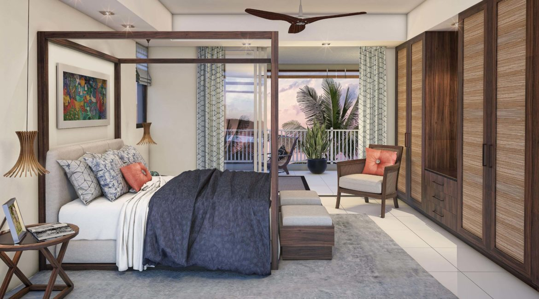 Appartement 3 chambres-Residence-Ile Maurice-Vue de la chambre