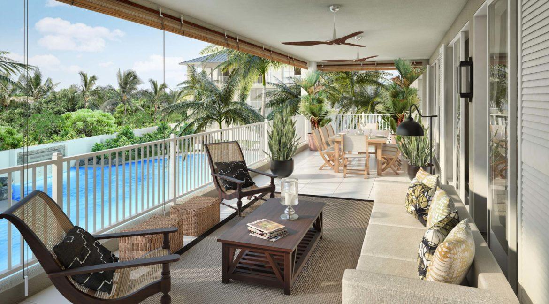 Appartement 3 chambres-Residence-Ile Maurice-Vue de la terrasse