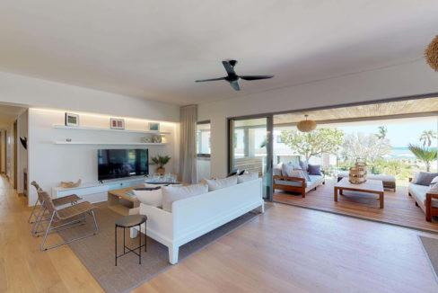 Appartement 4 chambres- Manta-Ile Maurice-Vue-du-salon