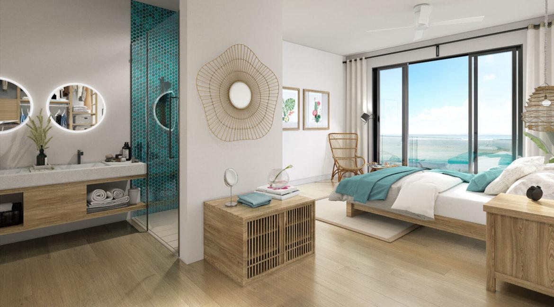 Appartement Alegria Beachfront Ile Maurice Chambre