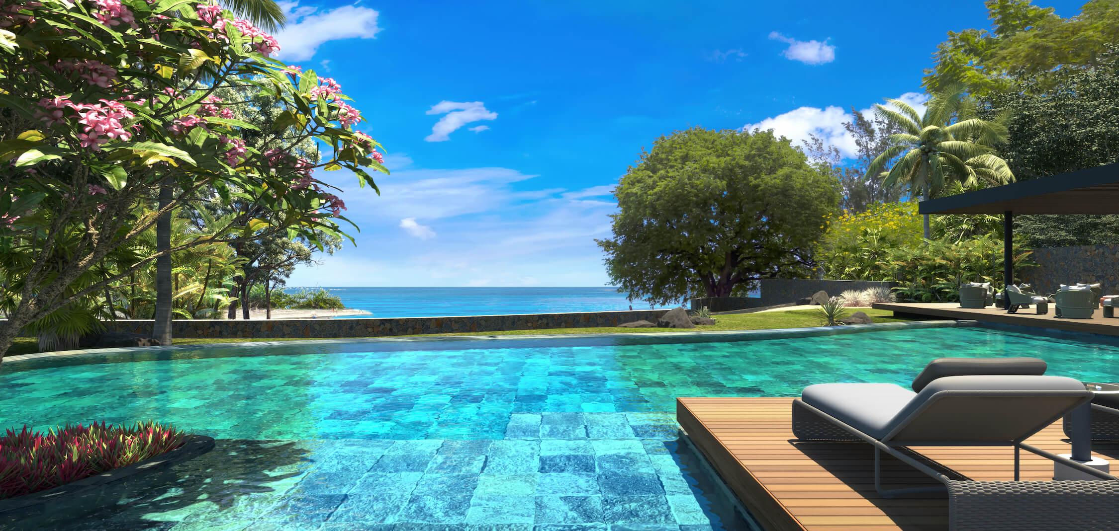 Appartement Lorlaplage à l'ouest de l'île Maurice