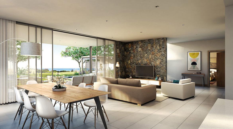 Villa 4 chambre- Hameau-Ile Maurice-Vue du salon