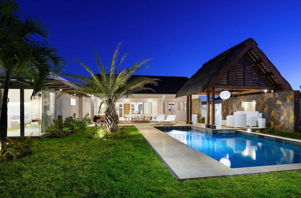Villa Aurora Ile Maurice - Vue exterieure de nuit