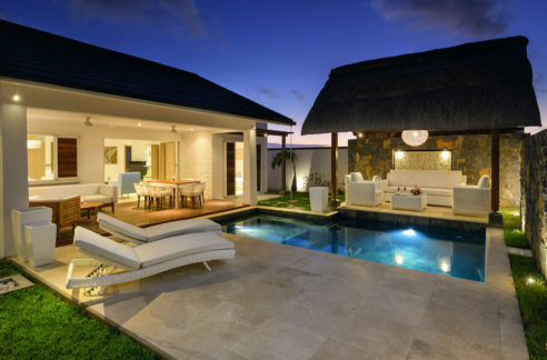 Villa Luxe Ile Maurice Exterior Night View
